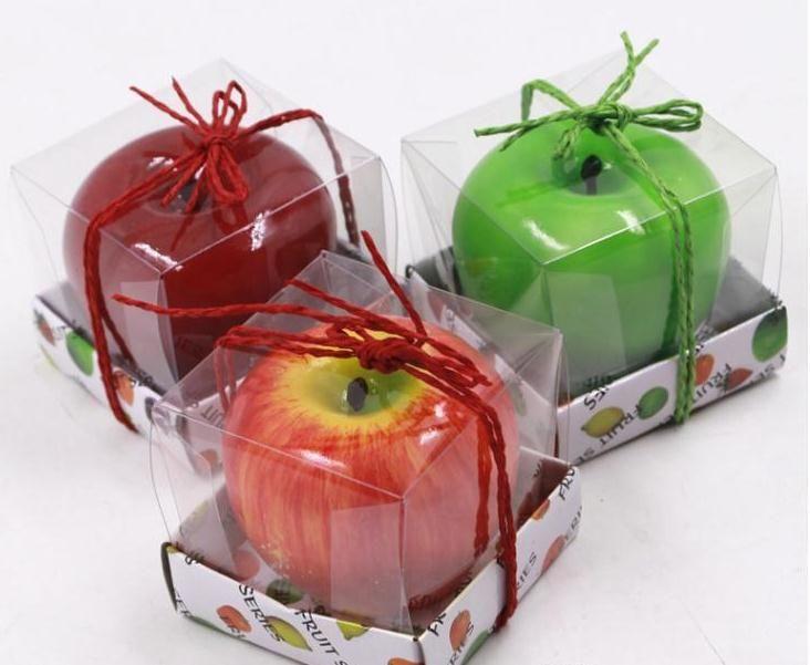 الفاكهة الشموع تفاحة على شكل شمعة معطرة مهرجان بجاية جو رومانسي حزب سام عيد الميلاد ليلة رأس السنة ديكور SN1621