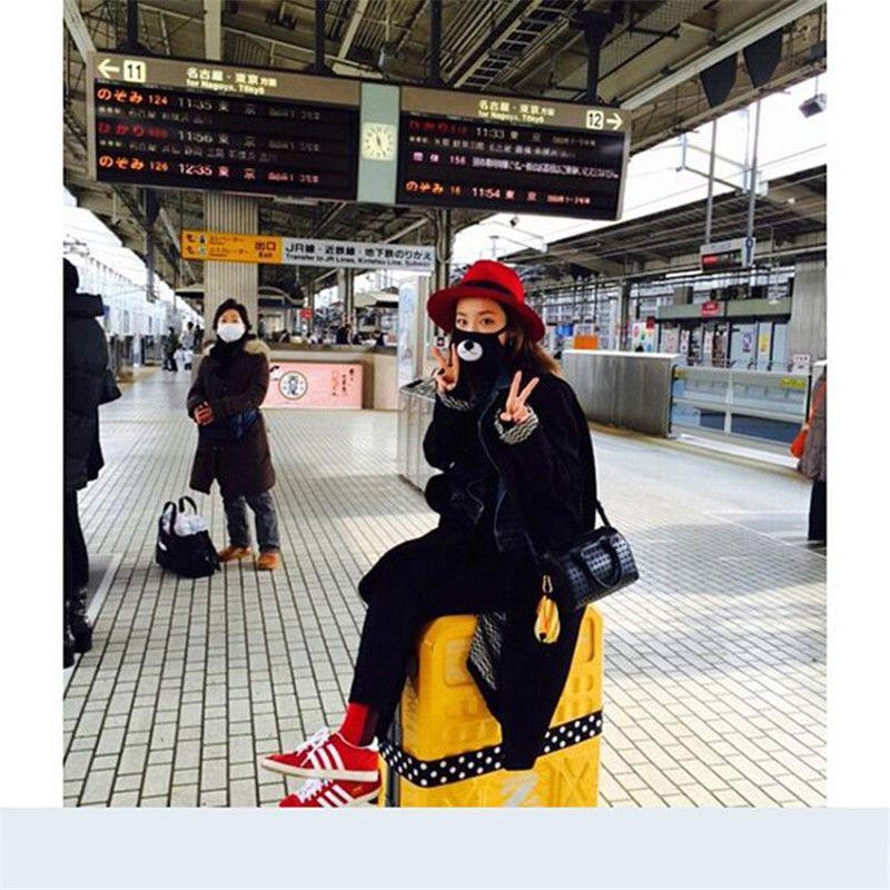 Máscara EXO Vision Care sueño Chan Yeol oso Boca Máscara de mufla EXO coreana Chanyeol cara Respirador Lucky oso boca cara del envío gratuito