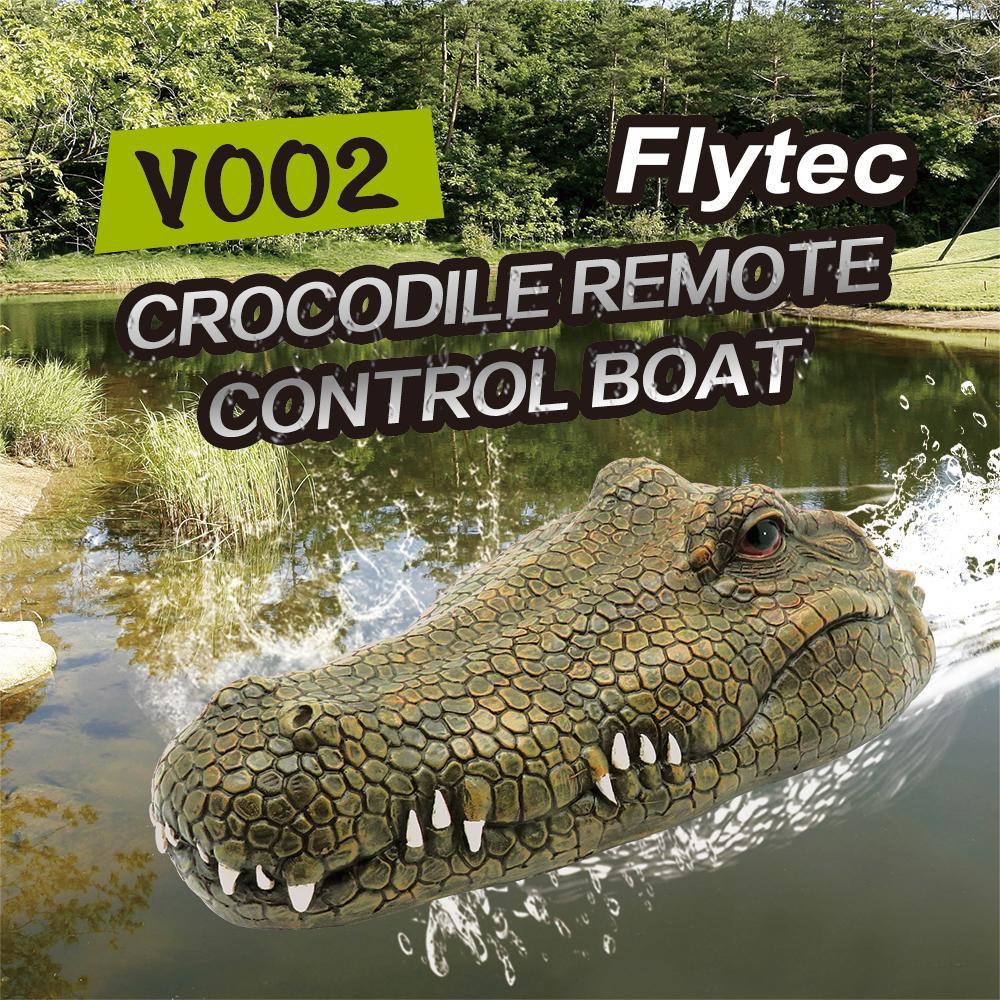 Flytec V002 RC Поддельные Крокодил глава дистанционного управления RC Boat Хэллоуин украшения Шутка Prank Maker Fun Новизна Моделирование Spoof игрушки