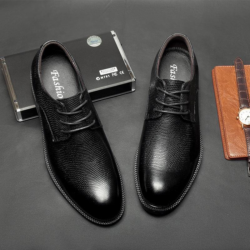 2020 Siyah İş Formal Ayakkabı Erkek Oxford Deri Erkek Ayakkabı Casual Büyük Boy 47 Gelinlik Ofis Ayakkabı Slip On