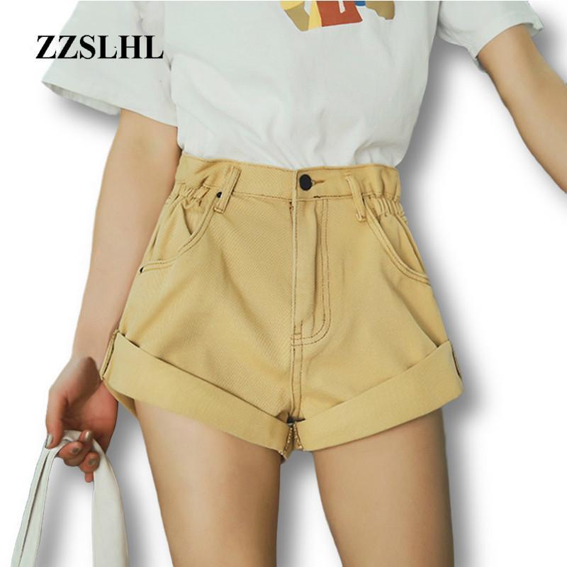 High Waist Denim Shorts Women Loose Wide Leg Women's Shorts Jeans Denim White Jeans Short for Women Summer 2020