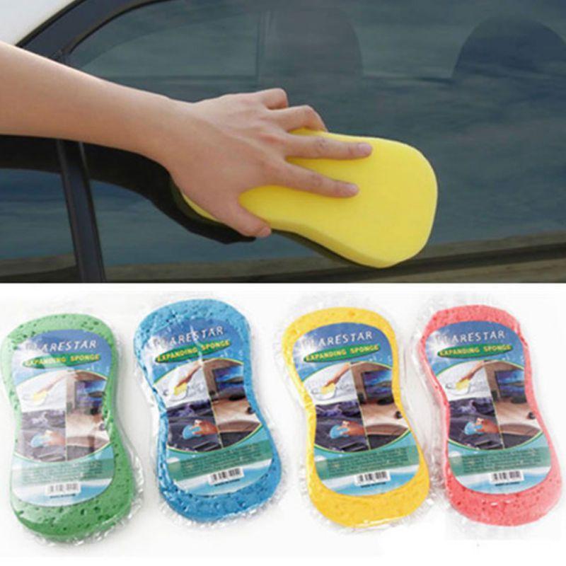 Car Wash Cotton Grande Vácuo Compressão 8 Palavra de esponja mágica Limpeza Limpe descontaminação alta Sponge Densidade