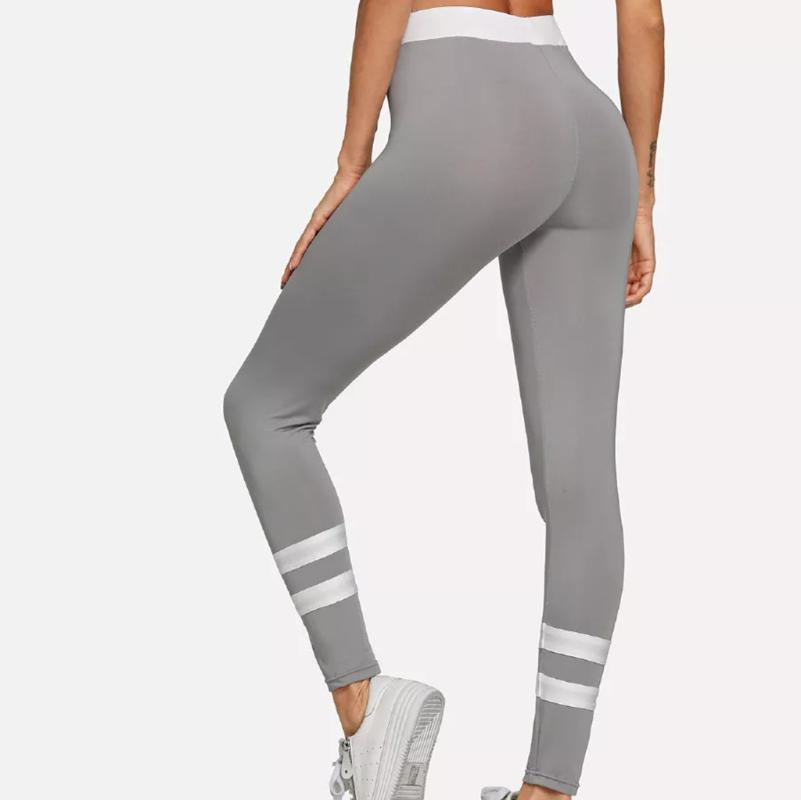 2019 New Style Autumn Women Fashion Slim Solid Workout Leggings Fitness Sports Running Yoga Athletic Pants Z83