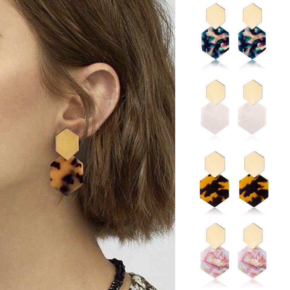 2020 Fashion Bohemian Statement Acrylic Earrings Womens 7 colors Acetate Stud Earring Fashion Jewelry Gifts IE0527
