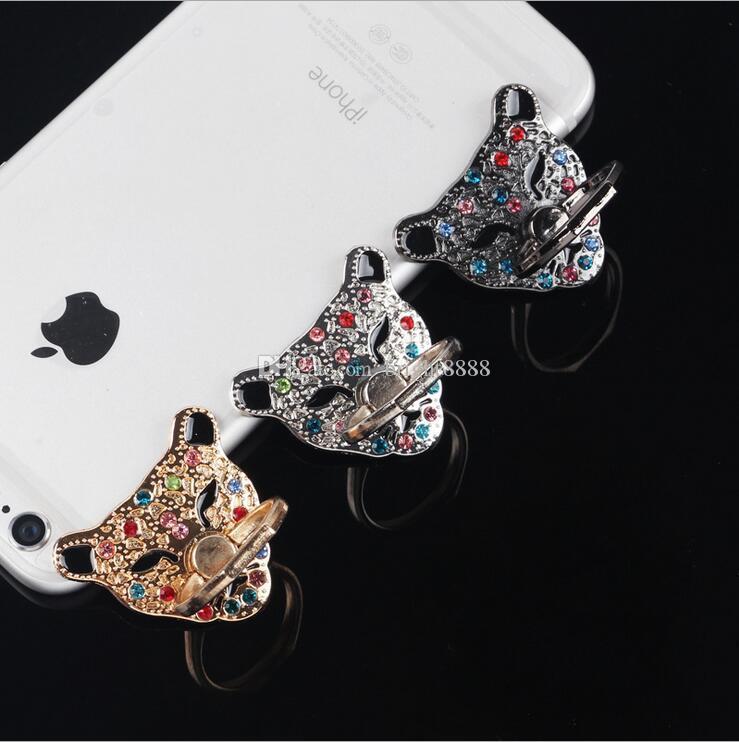 الهاتف المحمول قوس عصابة قوس الهاتف المحمول العالمي مقاومة للكسر مكافحة سرقة الهاتف المحمول قوس رئيس ليوبارد مع بو خاتم من الماس