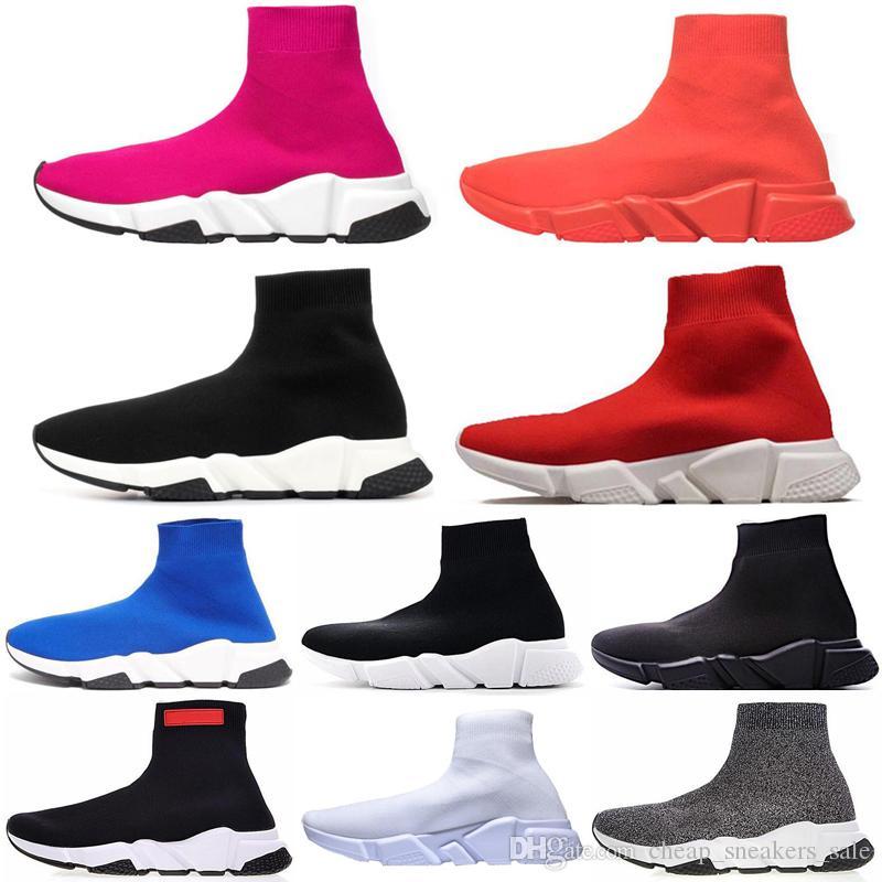 Balenciaga sock speed trainer  Eğitmen Hız Eğitmenler Çorap yarışı kadınlar Spor Ayakkabı Lüks ayakkabı boyutu 36-45 Koşucular erkek koşu ayakkabısı