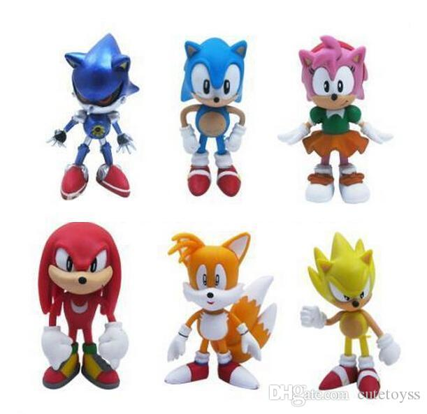 2020 Cute Anime Cartoon Sonic The Hedgehog Figure Action Set Doll Toys For Kids Gift Toy From Cutetoyss 4 93 Dhgate Com