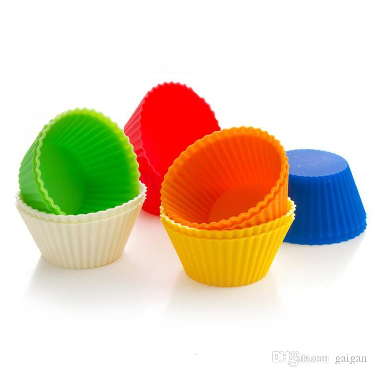 Silicone cake cup 7cm thickening original single round muffin cup cake mold