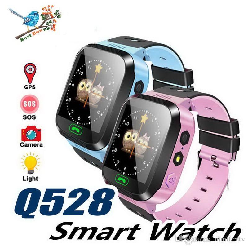 Q528 Enfants Montre Intelligente Pour Enfants SmartWatch 1,44 Pouce Écran Tactile SOS Urgence GPRS Alarme Caméra Anti-perdu Horloge Montre-Bracelet Bébé Horloge