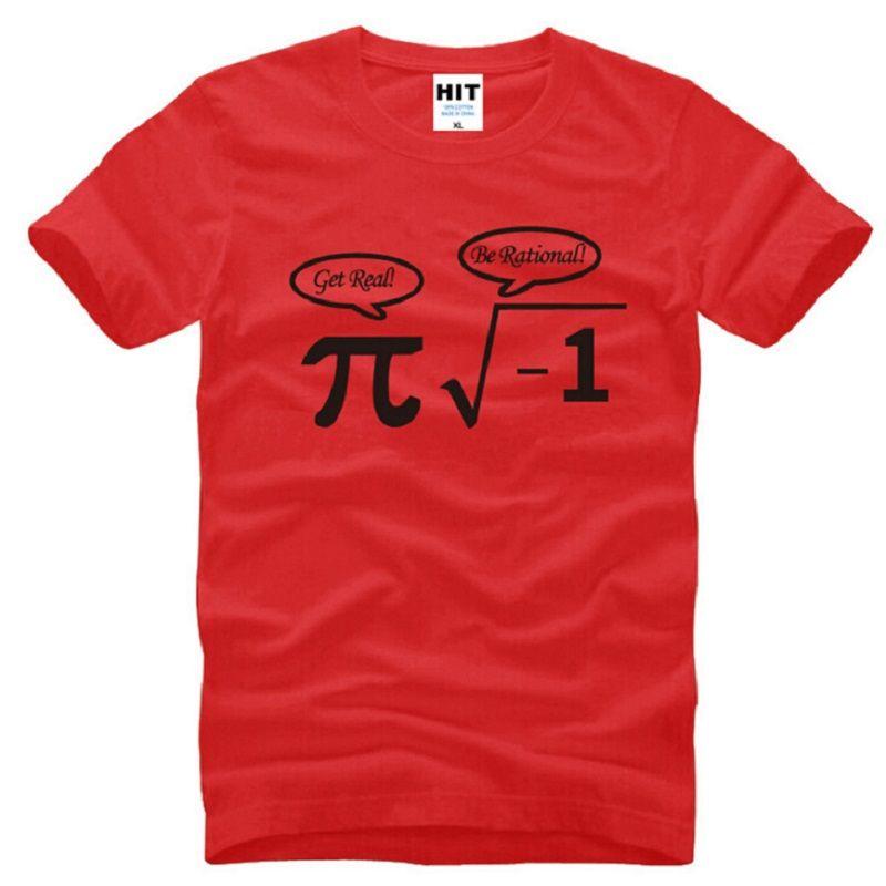 Camisetas de hombres fresco de Matemáticas Nerd Impreso de manga corta camiseta hombre masculino divertido Top Tees