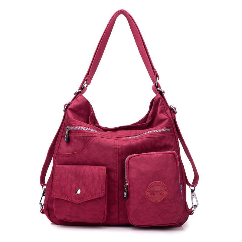 Нейлон Crossbody 1 Леди Женщины многофункциональный рюкзак в магазине Сумки на плечо Tote Многоразовая сумка Сумка Ткань 3 xwcjn