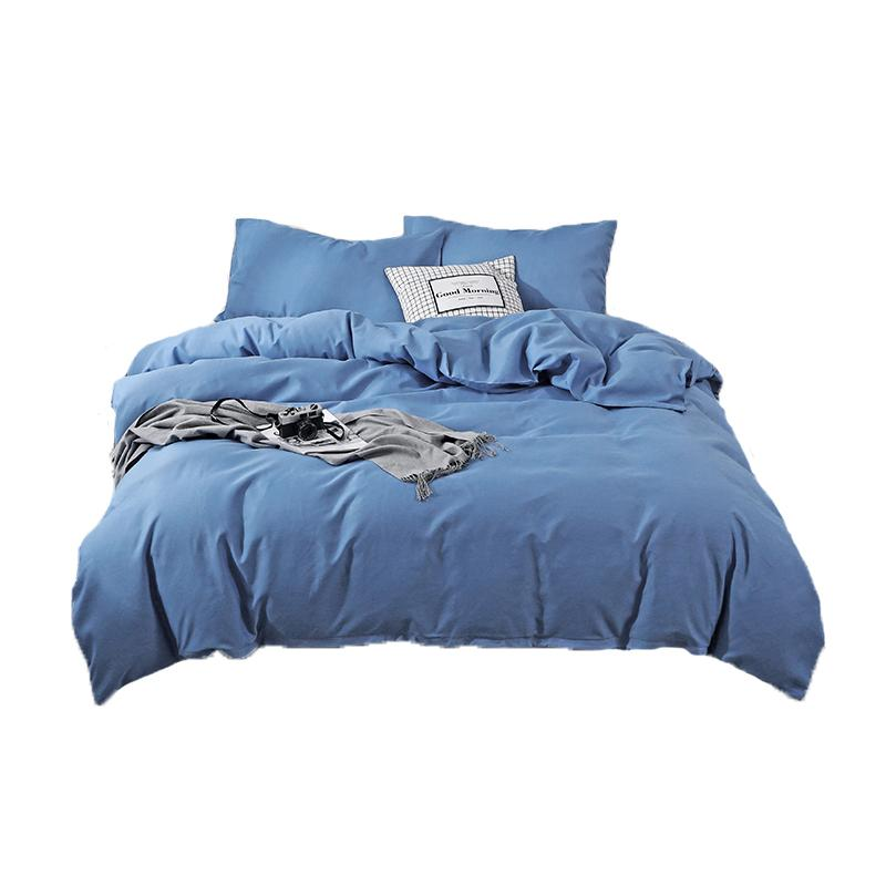 SUCSES brossé Microfibre Housse de couette Literie Super Soft Solid Color Twin Set complet King Size Reine Consolateur Couverture