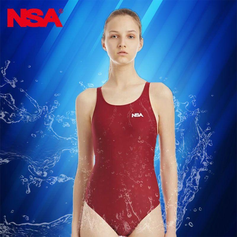 Nsa Professional Swimwear Women One Piece Swimsuit For Girls Swim Wear Women's Swimsuits Competition Swimming Suit For Women Y19062901