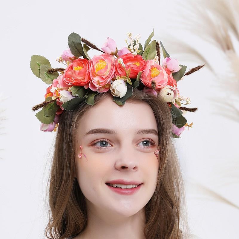 accessoires de mariée cheveux couronne de Pâques dames de bijoux en tissu faits à la main big band de cheveux de fleurs couronnes européennes et américaines