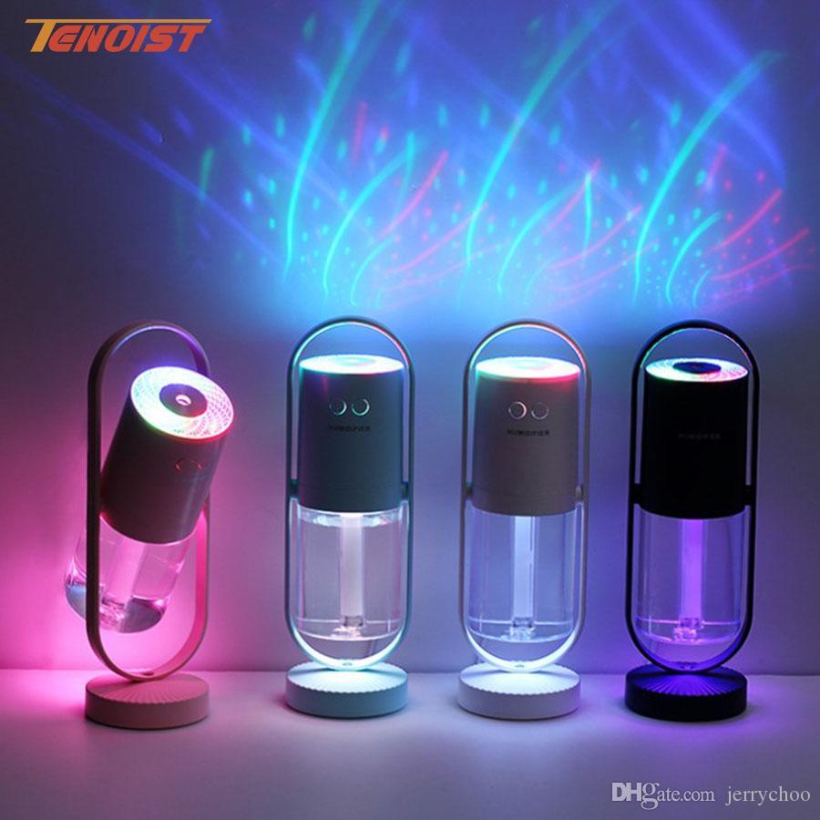 Новая мода 360 градусов вращающийся ультразвуковой воздушный увлажнитель Magic Shadow электрическая ароматерапия автомобиль дома USB увлажнитель