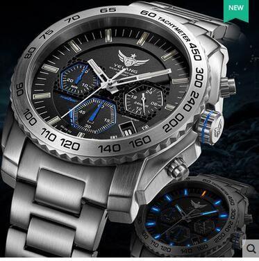 Yelang Men Quartz Watch Solar Energy Drive Tritium Light T100 Japan Movement WR100M Sapphire Date Energy Display Military Watch T200409