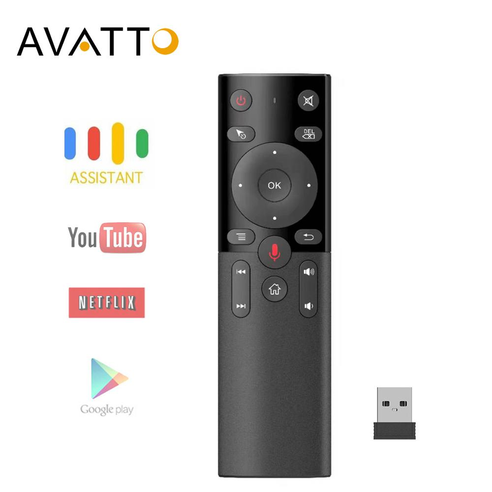 AVATTO H17 Voice Air Mouse with 2.4GHz Wireless Microphone Remote Control with IR Learning 6-axis Gyroscope for Android Box