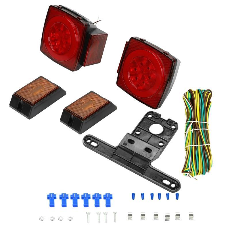 후면 LED 잠수정 트레일러 트럭 보트 마커 테일 라이트 키트 방수