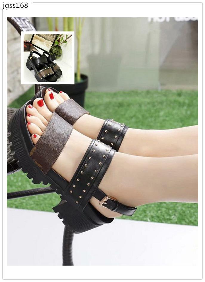 marca caliente bloquearlo mula deslizadores de las sandalias de la plataforma de los holgazanes 1A3RED Alpargatas Diapositivas las zapatillas de deporte de la plataforma del nómada Nobel zapatos size36
