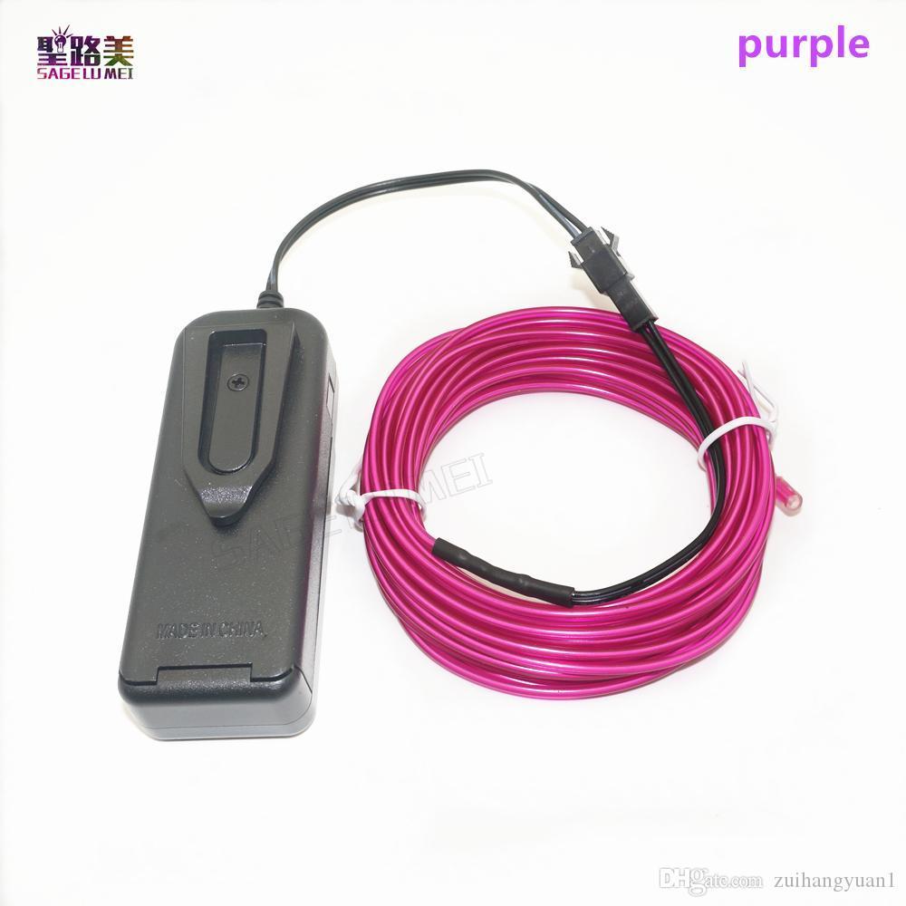 контроллер гибкий неоновый свет Glow EL Wire Rope Tube tape водонепроницаемый светодиодный неоновый свет Обувь Одежда автомобильный декор