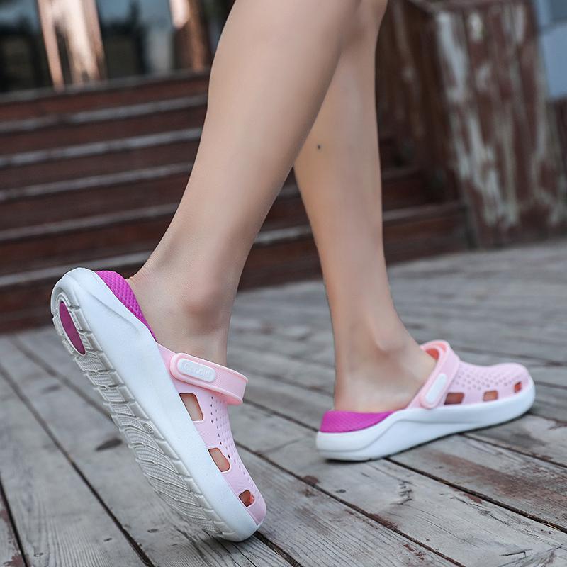 Orijinal New Garden Flop'lar Su Ayakkabı Kadın Çiftler Düz Yaz Plaj Aqua Terlik Açık Yüzme Sandalet Bahçecilik Ayakkabı çevirin