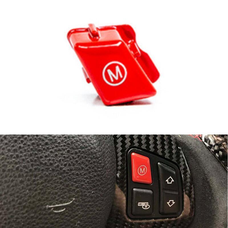 2 шт./компл. автомобиль рулевое колесо Красный M1 M2 переключатель режима крышка кнопки отделка подходит для BMW M серии M3 M4 F80 F82 F83 2013+