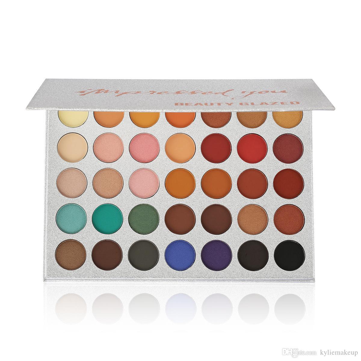 Makyaj Paleti Güzellik Camlı Göz Farı Paleti 35 Renk Size Etkili Mat pırıltılı Göz Farı Paleti güzellik sırlı Marka Kozmetik