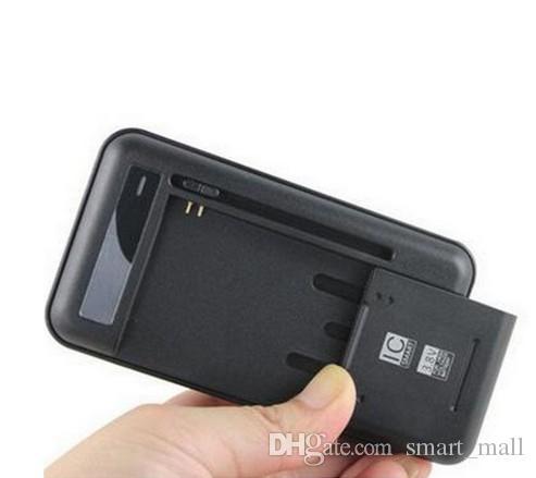 Chargeur de batterie universel téléphone intelligent mur pour Galaxy S5 S4 NOTE 3 4 Xiaomi Nokia Huawei Sideslip Royaume-Uni EU PLUG LED indicateur LLFA