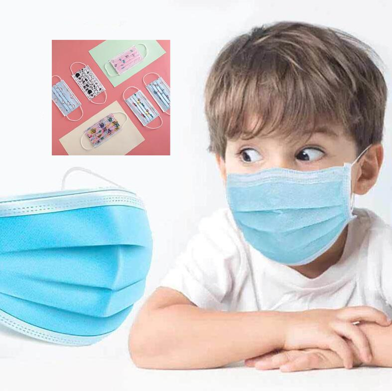 مصمم الاطفال قناع الوجه الفاخرة الطفل 3-رقائق غير المنسوجة أقنعة واقية الغبار التنفس المضادة للغبار muoth faceemask