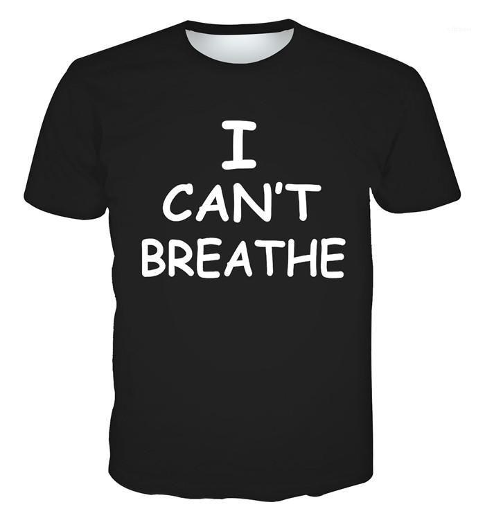 Lettre d'été T-shirt à manches courtes O Neck Slim Fit T-shirts Casual Homme Designer Top Mens Cant Breathe