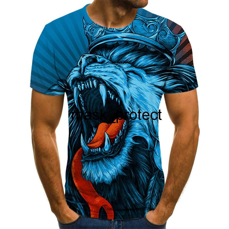 2020 novos homens e das mulheres T-shirt engraçados T-shirt ocasional selvagens camisetas de manga curta em 3D Meninos Meninas Meninos cobre