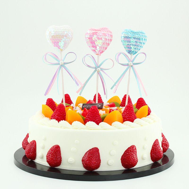 Enjoyable Heart Shape Birthday Cake Decorations Children Cake Plug In Personalised Birthday Cards Paralily Jamesorg