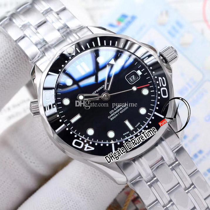 NUEVO DIVER 300M MIYOTA 8215 Reloj automático para hombre Cerámica Negra Bisel Black Dial Brazalete de acero inoxidable 212.30.41.20.01.003 Puretime E264A1