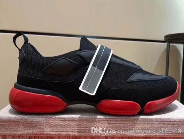İtalya erkekler Ayakkabı Moda Erkekler Günlük Ayakkabılar Cloudbust spor ayakkabısı Yüksek kaliteli deri ve kumaş ayakkabı platformu çorap Eğitmenler h22