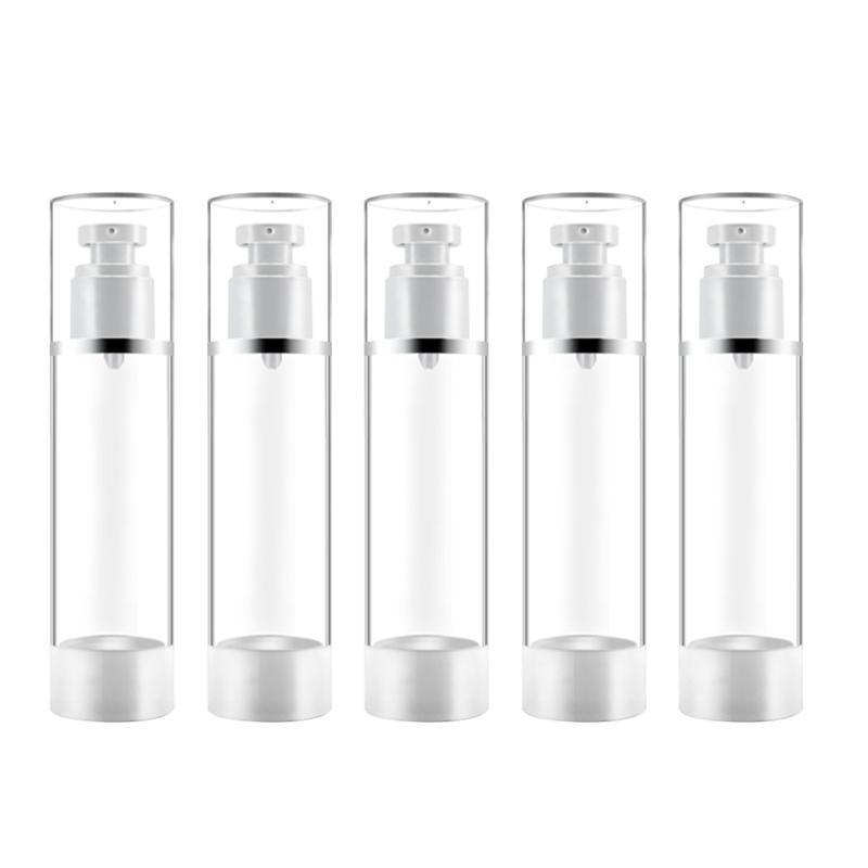 vente en gros de la pompe Airless 5pcs bouteilles Lotion liquide Distributeur pour bouteilles rechargées de Voyage