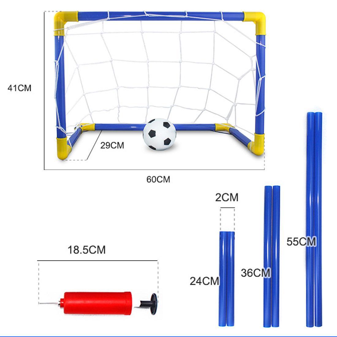 새로운 1 세트 어린이 스포츠 축구 목표 축구 공 및 펌프 야외 스포츠 연습 Scrimmage 게임 분리 가능한 축구 게이트