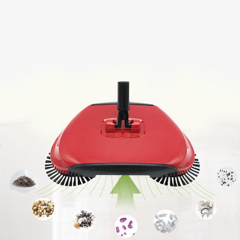 Pousser Balayer Balais en acier inoxydable main machine poussée type push main balai magique Sweepers Dustpan Outils de nettoyage de ménage