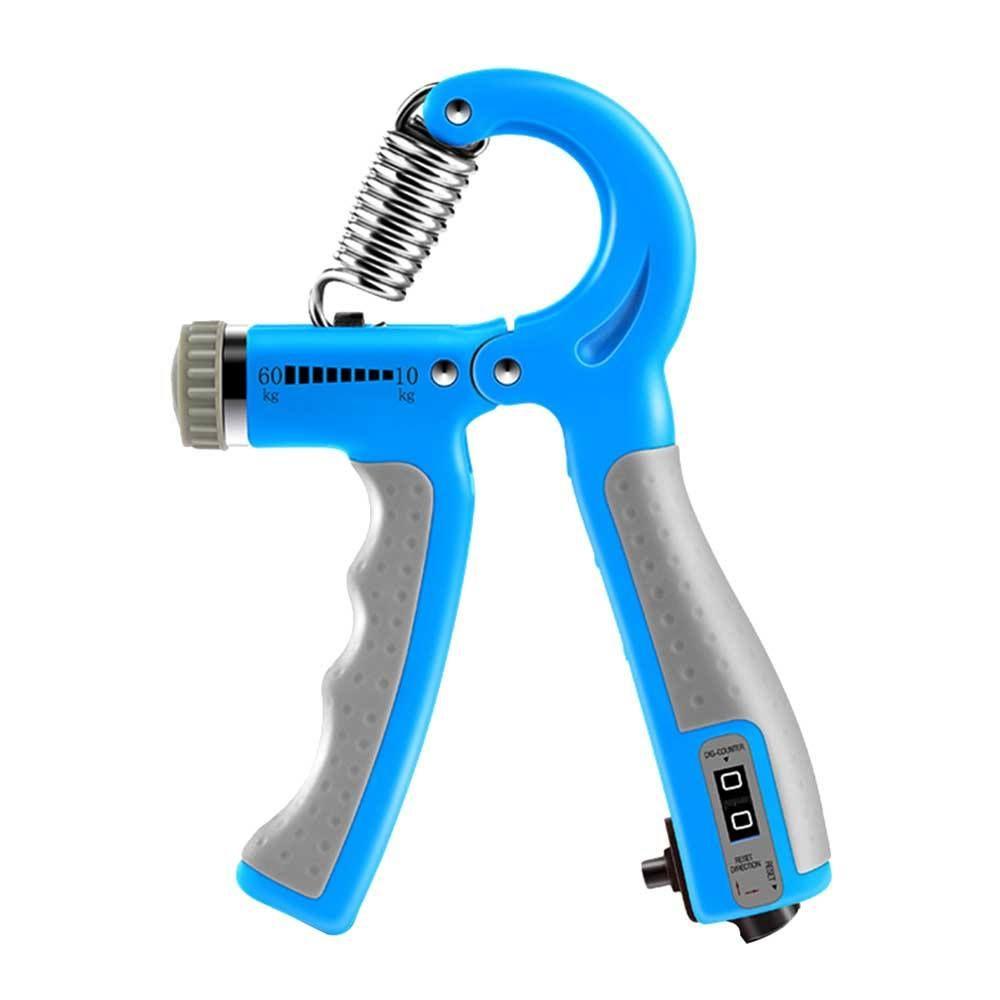 R-Shape apertos de mão ajustável força de preensão Countable Mão Exercício Strengthener Gripper Primavera dedo pitada Carpal Expander