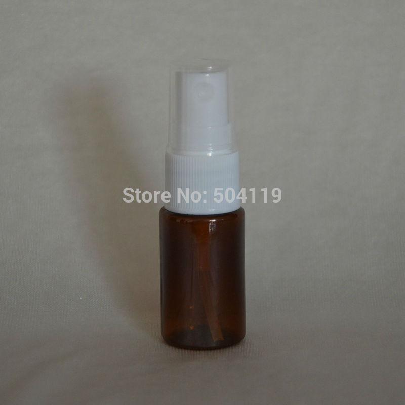 10ml marrone profumo bottiglie in PET con pompa spray, plastica Spray Bottle bottiglia riutilizzabile