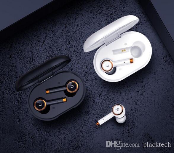 TWS V5.0 블루투스 스포츠는 아이폰 (11) 삼성 (S10)에 대한 F9 대 무선 이어폰 헤드셋 3D 헤드폰을 이어 훅