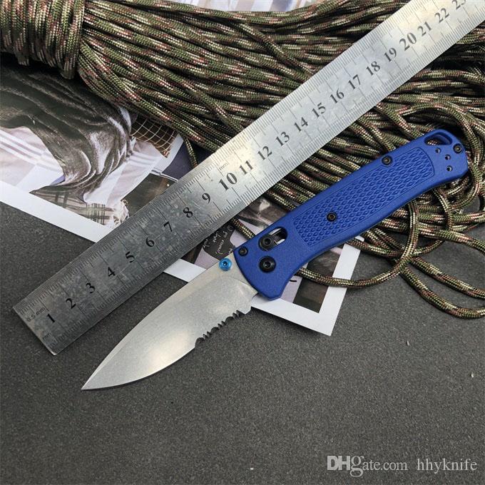 특별 제안 나비 535 나이프 나일론 섬유 손잡이 D2 스톤 워시 블레이드 접는 포켓 생존 EDC 도구 캠핑 사냥 사냥 야외 주방 칼