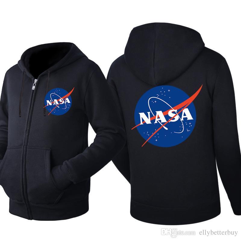 Yeni Nasa Kapşonlu Hırka Erkekler Fermuar İlkbahar Sonbahar Kapüşonlular Uzun Kollu Sweatshirt Erkek ceketler Eşofman Gündelik Giyim Giyim
