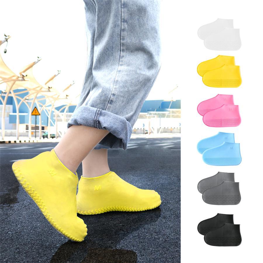 Imperméable Couvre-chaussures Chaussures silicone Protections Bottes de pluie Couvre-chaussure pliable Galoches pour l'extérieur Rainy Days JK2001
