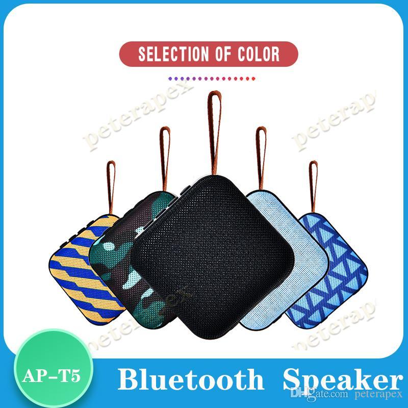 SD FM 야외 열 스피커와 T5 무선 블루투스 미니 스피커 휴대용 스피커 서브 우퍼 블루투스 4.2