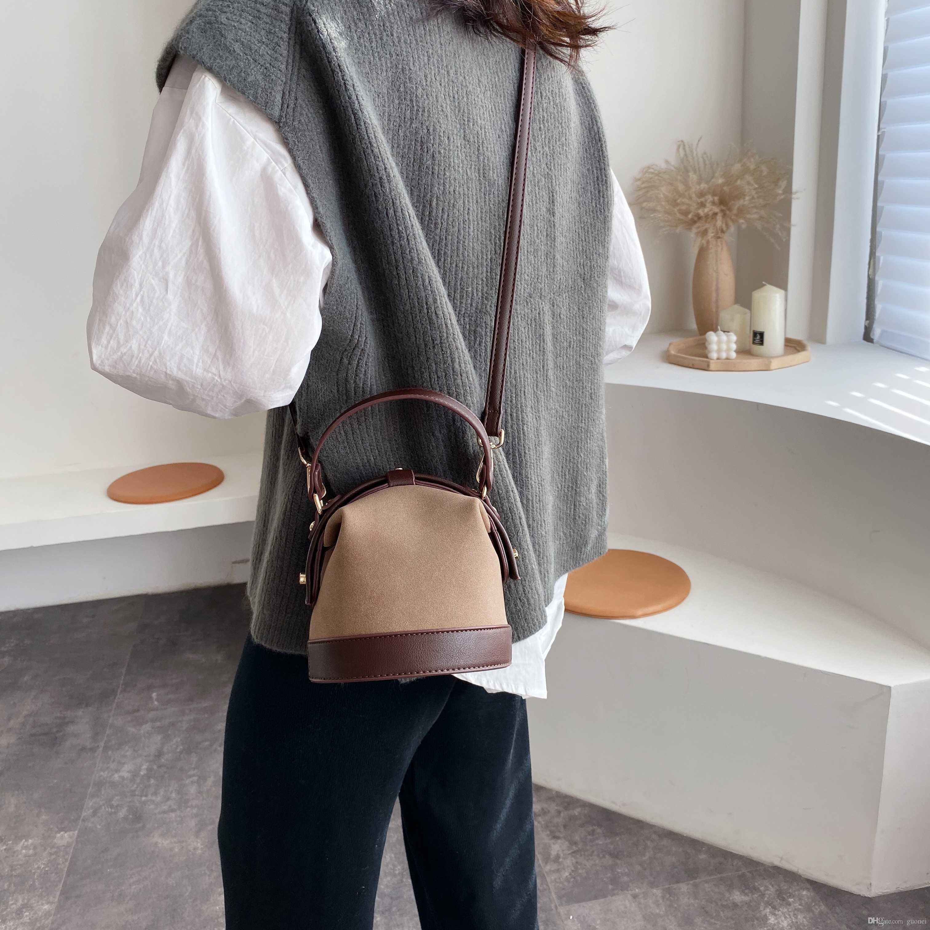 Borse Borse in pelle 2019 Lady per le donne Borse Secchio e Crossbody Messenger Bag Mini Designer-Donne Borse Borse Moda Viaggi Moda UFEAQ