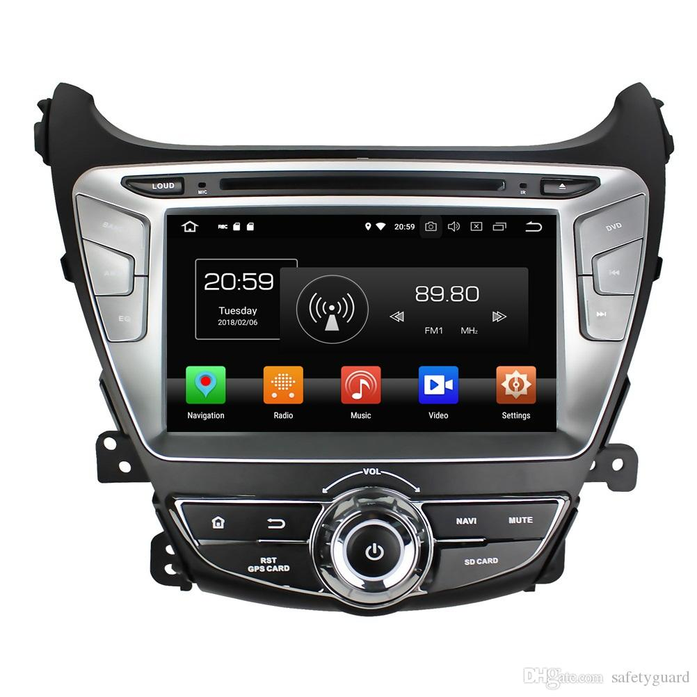IPS Octa Core 2 din 8 인치 Android 8.0 차량용 DVD 플레이어, 현대 Elantra 2014 2015 RDS 라디오 GPS 블루투스 TV 4G WIFI USB 4GB RAM 32GB ROM