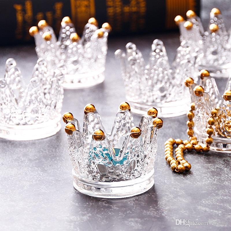 Cinzeiros de vidro Handwork Mini Crown Modelagem Castiçais De Cristal Óculos De Mesa Ornamento Multi Fins Caixas De Jóias Criativas 7 8xr L1