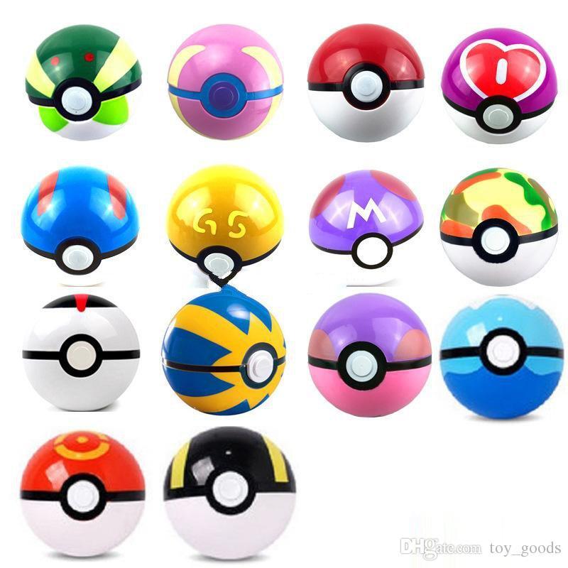 (Enthält Sprites) 100pcs 15 Könige Kugel Figuren ABS Anime Action-Figuren pokeball Spielzeug Super-Master Ball Spielzeug Pokeball Juguetes 7cm TOY