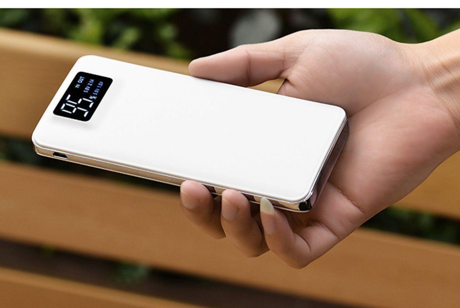 10000mah 전원 은행 LCD 화면 외부 배터리 팩 휴대용 전화 충전기 외부 전원 공급 장치
