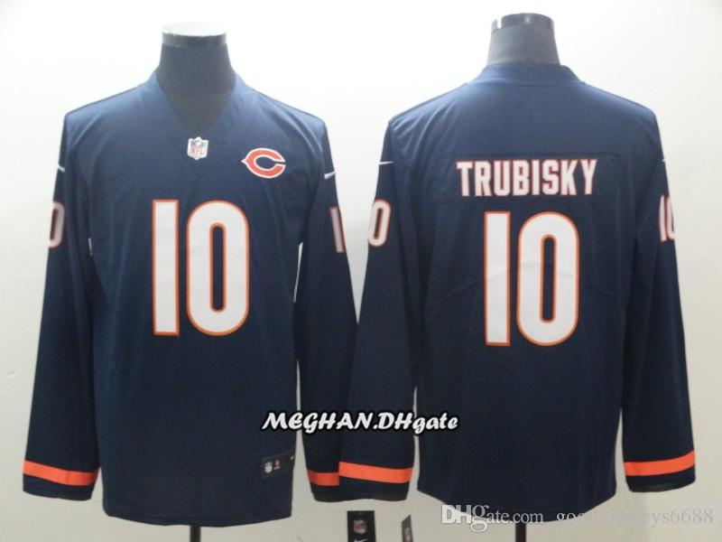 1d6e833c22c Men Women Chicago Bears 34 Walter Payton Jersey 10 Mitchell Trubisky 52  Khalil Mack Therma American Football Long Sleeve Jersey